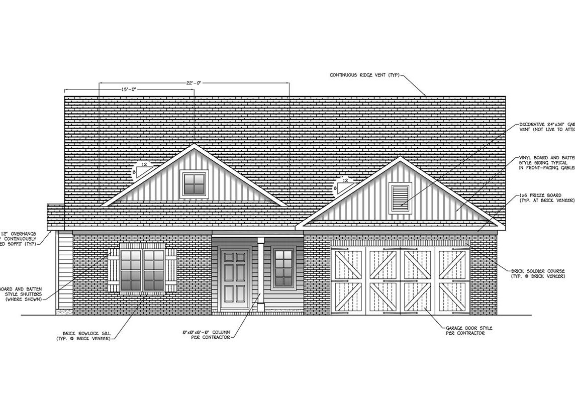 A - UC - 5459 Heritage Oaks Elevation - CG2 Homes - Cropped
